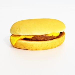 burger cheeseburger 3D model