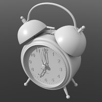 3D model alarm clock alarmclock