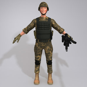 soldier uniform boots 3D