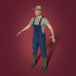 3D farmer working model