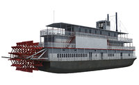 historic steam boat 3d model