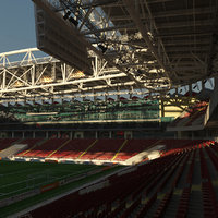 3D football soccer stadium spartak