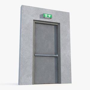 3D exit emergency door