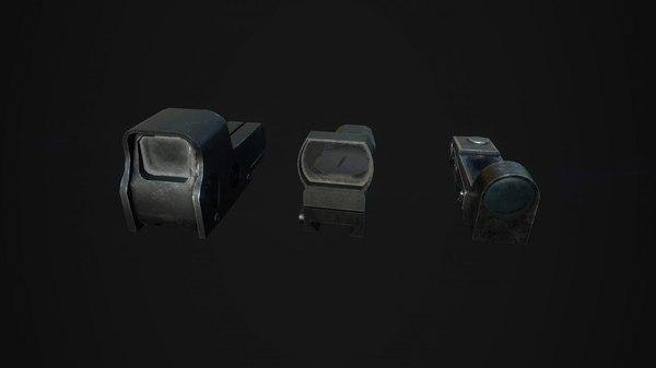tactical sights pack 3D model
