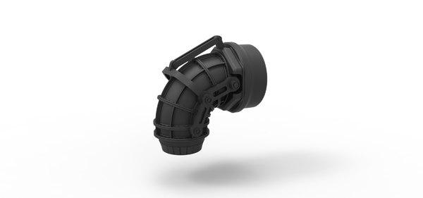 3D diecast jet nozzle model