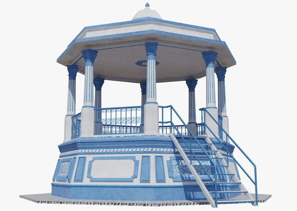 3D bandstand band stand model