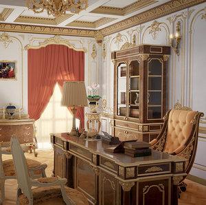 3D blender baroque model