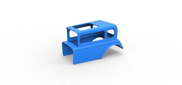 3D shell diecast model