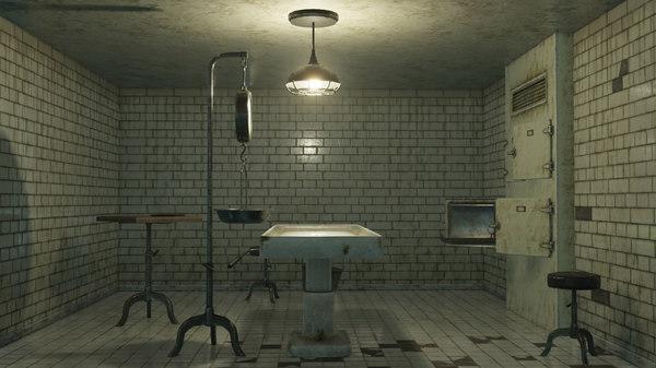 vintage modular morgue pbr model