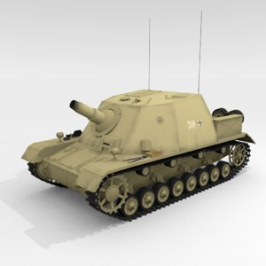 3D sturmpanzer iv brummbr