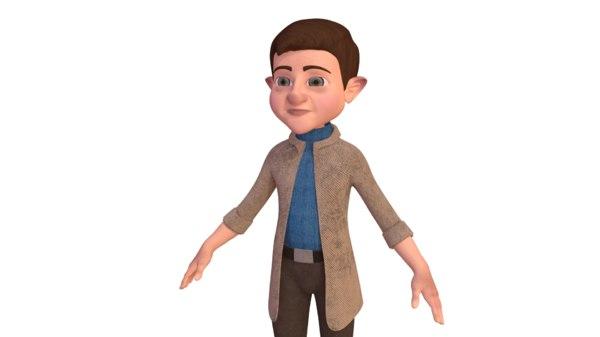 3D dwarf character