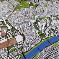 3D frankfurt city