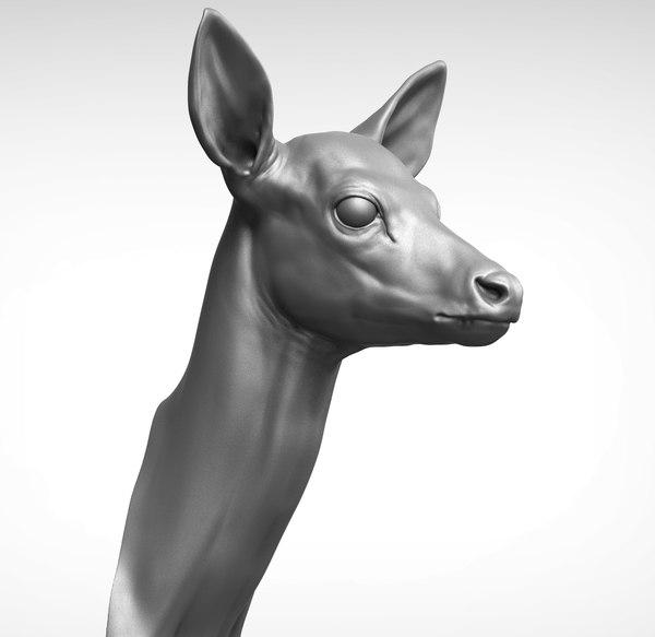 3D head sculpture