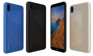 xiaomi redmi 7a colors 3D model
