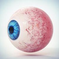 3D eye blue model