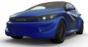 generic printed electric car 3D model