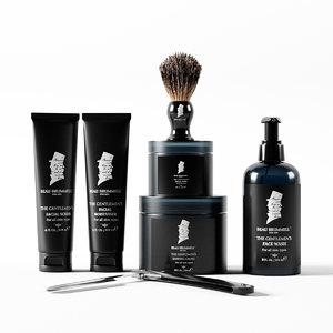 3D beau brummell shaving set model