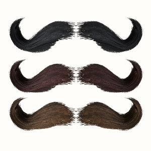 mustache 3D model