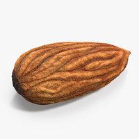 3D raw almond model