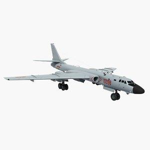 3D h-6k china strategic bomber model
