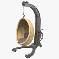 3D antique hanging egg chair model