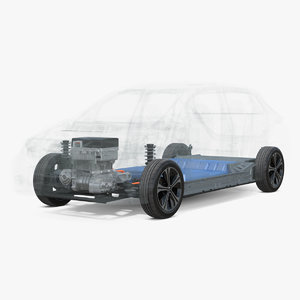 3D model nissan leaf 2019 engine