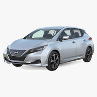 3D nissan leaf 2019 simple