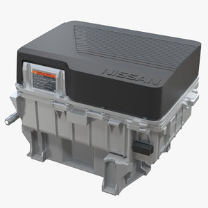 nissan leaf electric engine motor 3D model