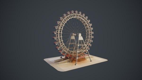 3D carousel wheel noria 4k