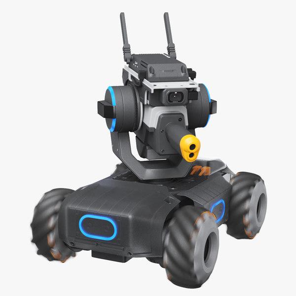 dji robomaster s1 blue 3D