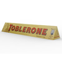 3D toblerone chocolate bar