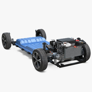 3D nissan leaf engine chassis
