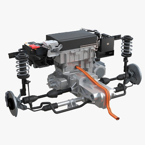 nissan leaf engine suspension 3D model