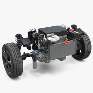 nissan leaf engine suspension 3D