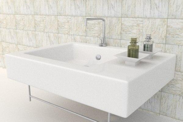 sink plumbing 3D model