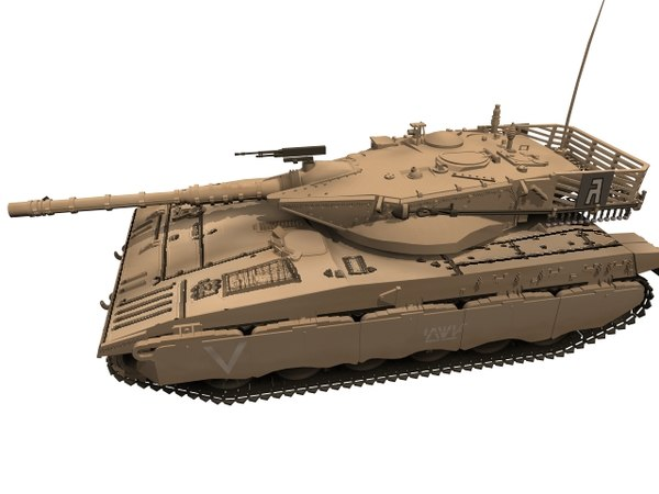merkava iv mk 3D model