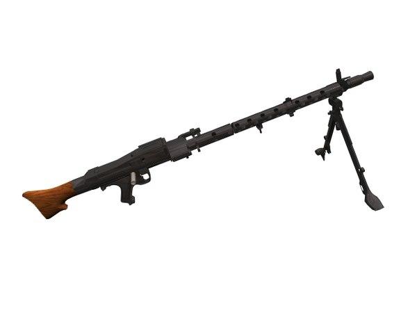mg34 variants machine gun 3D model