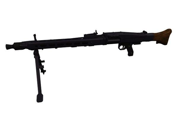 3D mg42 variants machine gun model