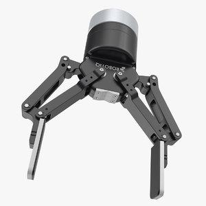 3D robot finger gripper model