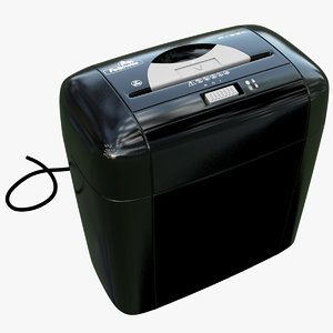 3d model cross paper shredder