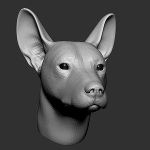 dog head base mesh 3D