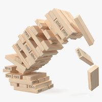 jenga falling tower 3D