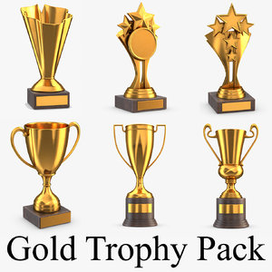 gold trophy pack 3D model