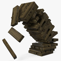 wooden falling tower model
