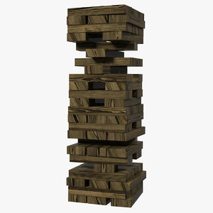 3D wooden tower games