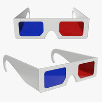 3D model glasses red blue