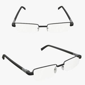 glasses reading 3D model