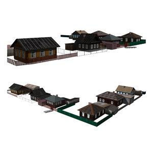 3D house building structure