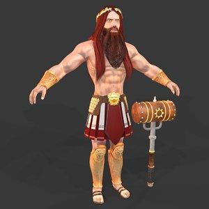 greek god hephaestus 3D model