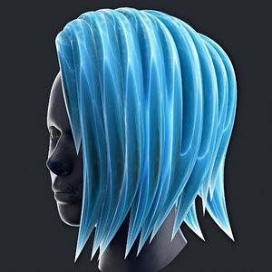 3D hair icy